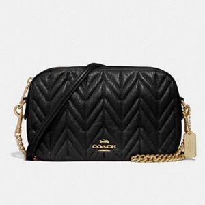 Authentic COACH quilted Calf Leather Crossbody 💕